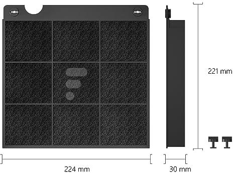 Kohlefilter aktivkohlefilter für dunstabzugshaube fc passend