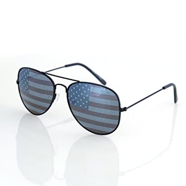 usa sunglasses  Amazon.com: Shaderz USA America Aviator Sunglasses Black Color ...