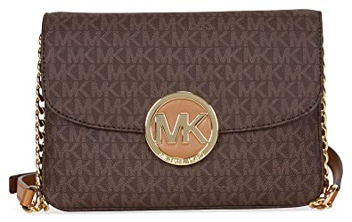 c03cef38de8039 Michael Kors Women's Fulton Logo Crossbody Bag: Amazon.in: Shoes ...