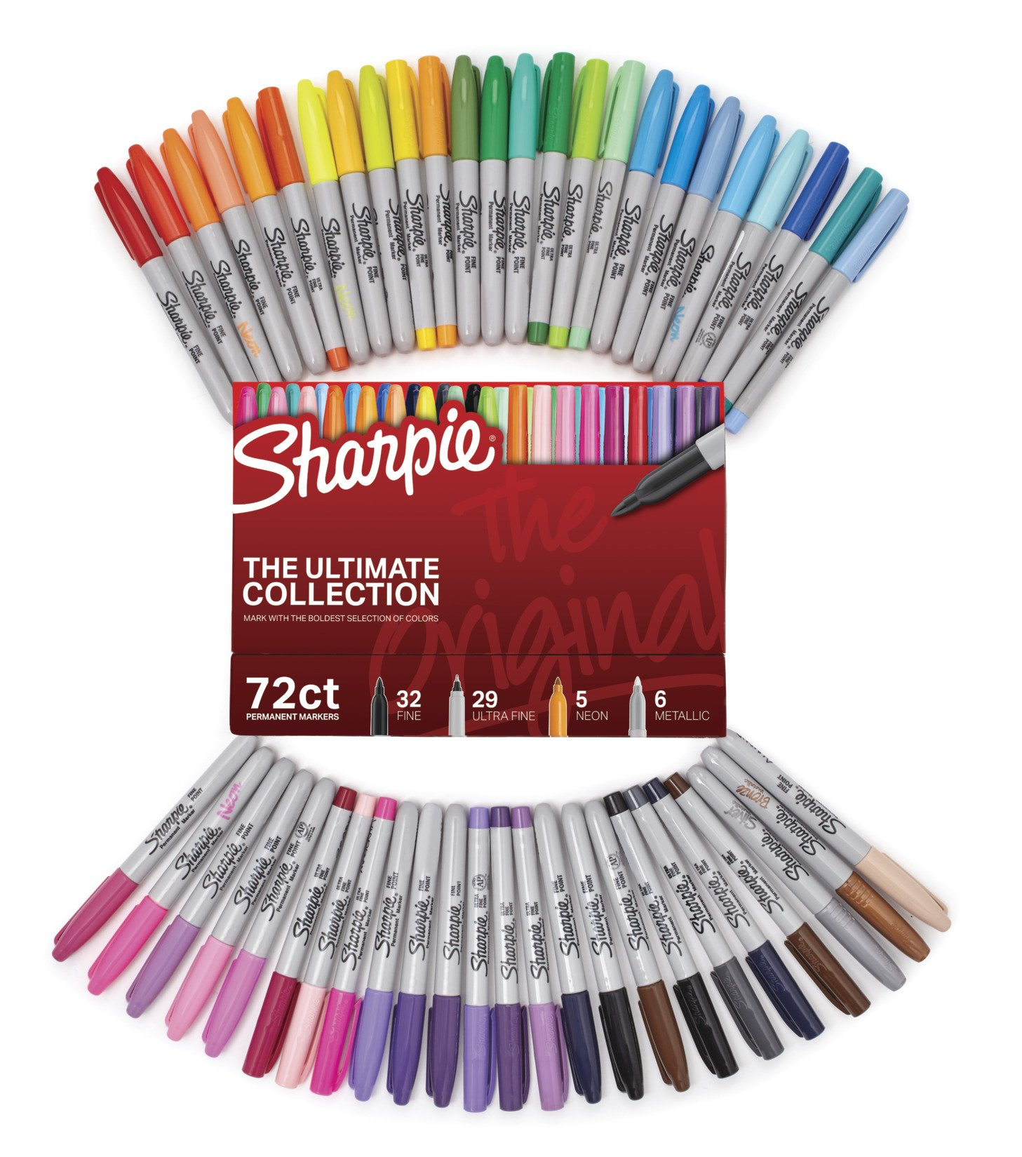 Sharpie Permanent Markers Ultimate Collection, Fine and Ultra Fine Points, Assorted Colors, 72 Count by Sharpie (Image #2)