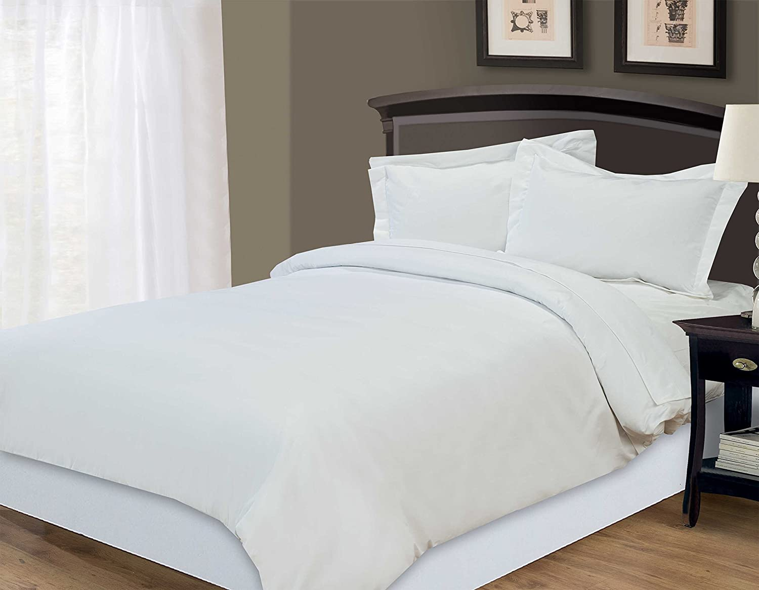 Luxury White 800 Thread Count Sateen 100% Cotton Bedding Fitted Sheet  (King): Amazon.co.uk: Kitchen U0026 Home