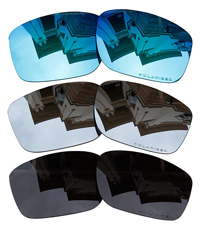 ccb19f4a13 3 Pairs Polarized Replacement Lenses for Oakley Mainlink OO9264 Sunglasses  Blue & Black & Black Iridium, Goggles - Amazon Canada