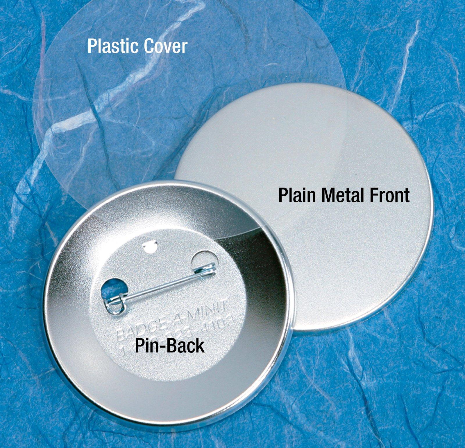 Badge-A-Minit 3011-E 2 1/4'' Genuine Badge-A-Minit Pin-Back Button Sets - 500 sets