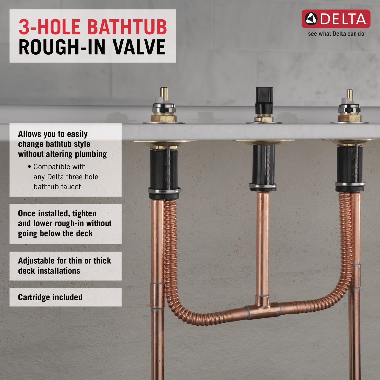 Delta Faucet R2707 Flexible Roman Tub Rough by DELTA FAUCET (Image #2)
