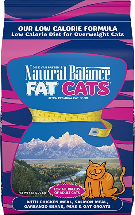 Natural Balance Fat Cats Low Calorie Chicken & Salmon Meal for Adult Dry Cat Food