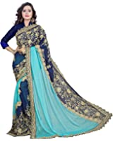 Siddeshwary Fab Women's Lycra And Georgette Saree