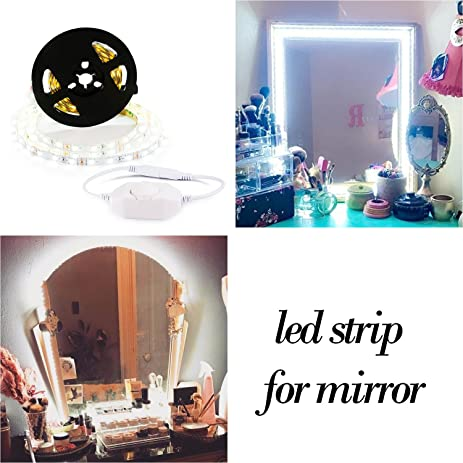 vanity set with mirror lights. LED Vanity Mirror Lights Kit for Makeup Dressing Table Set 13ft  Flexible Light Strip Amazon com