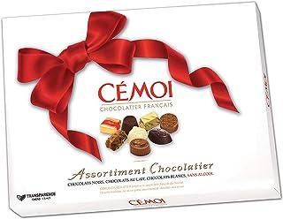 Cémoi boîte assortiment de chocolats nœud rouge 445 g, lot de 2