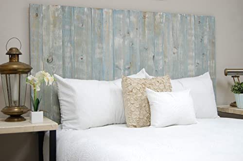 Blue Powderwash Headboard Queen Size Weathered