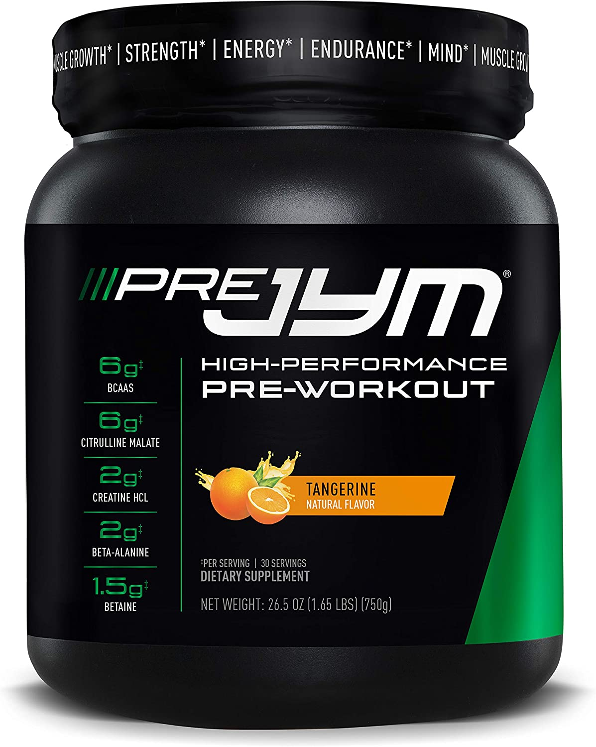 Pre JYM Pre Workout Powder - BCAAs, Creatine HCI, Citrulline Malate, Beta-Alanine, Betaine, and More