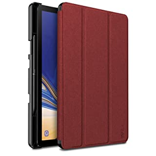 Infiland Samsung Galaxy Tab S4 10.5 Case with S Pen Holder, Ultra Slim Tri-Fold Shell Cover Support Auto Wake/Sleep for Samsung Galaxy Tab S4 10.5 Model SM-T830/ T835 2018 Release, Dark Red