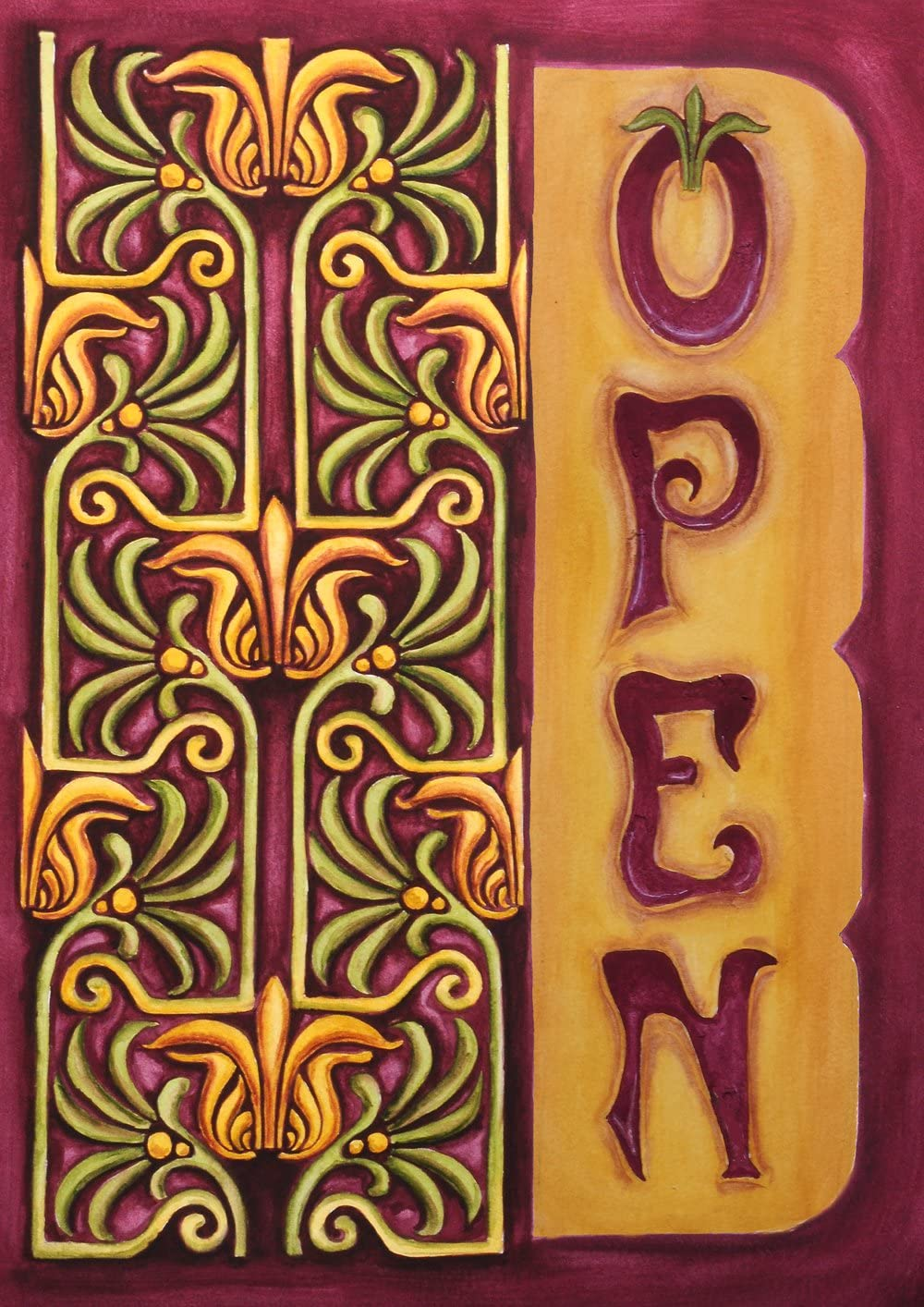 Toland Home Garden Nouveau Open 28 x 40 Inch Decorative Classic Business Sign Double Sided House Flag - 102545