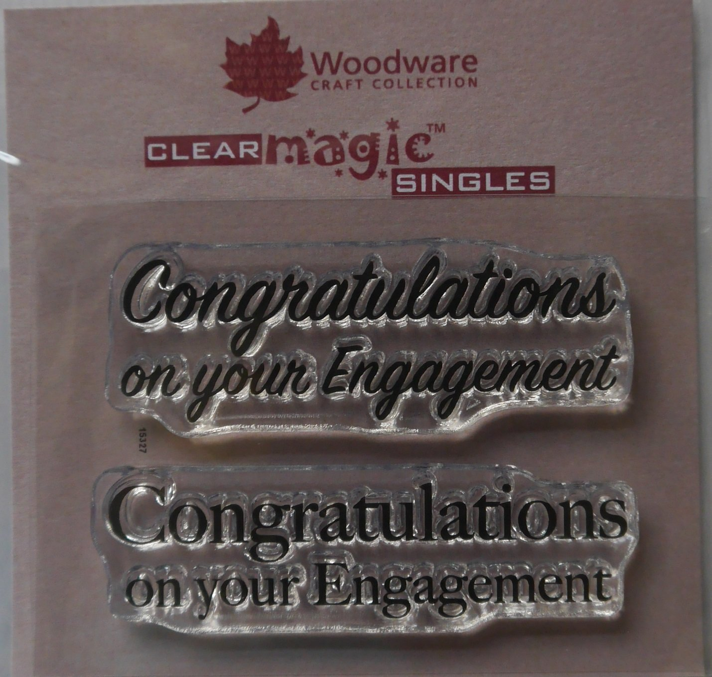 Woodware Clear Acrylic Stamp Set CONGRATULATIONS ON YOUR YOUR YOUR ENGAGEMENT Set of 2 B076DJ7P3F | Räumungsverkauf  c101ee