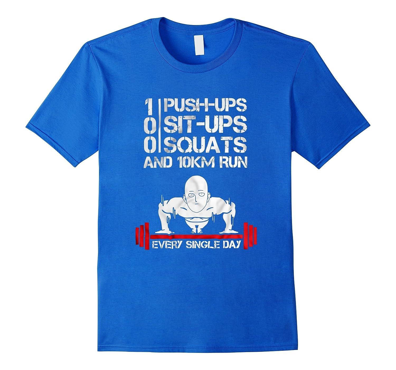 100 pushups 100 situps 100 squats - Training to be bald Shir-Art