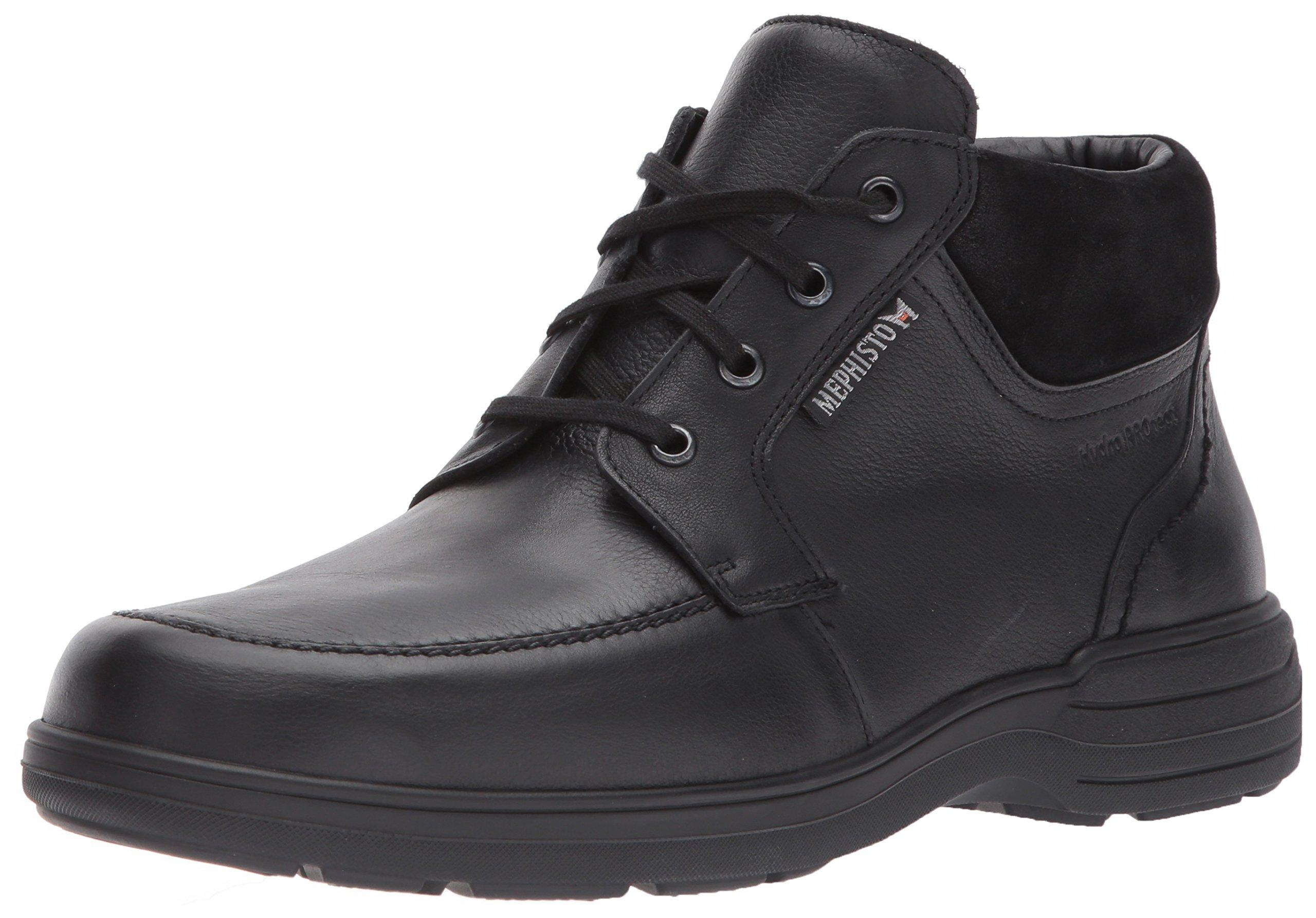 Mephisto Men's Darwin Rain Boot, Black Riko/Suede, 10.5 M US