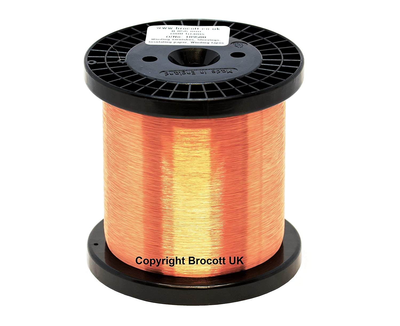 500 G 0,063 mm esmaltado alambre de cobre. 42AWG pastilla alambre, esmaltado alambre magneto. Solo Build and soldable: Amazon.es: Amazon.es
