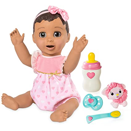 Amazon Com Luvabella Brunette Hair Interactive Baby Doll With