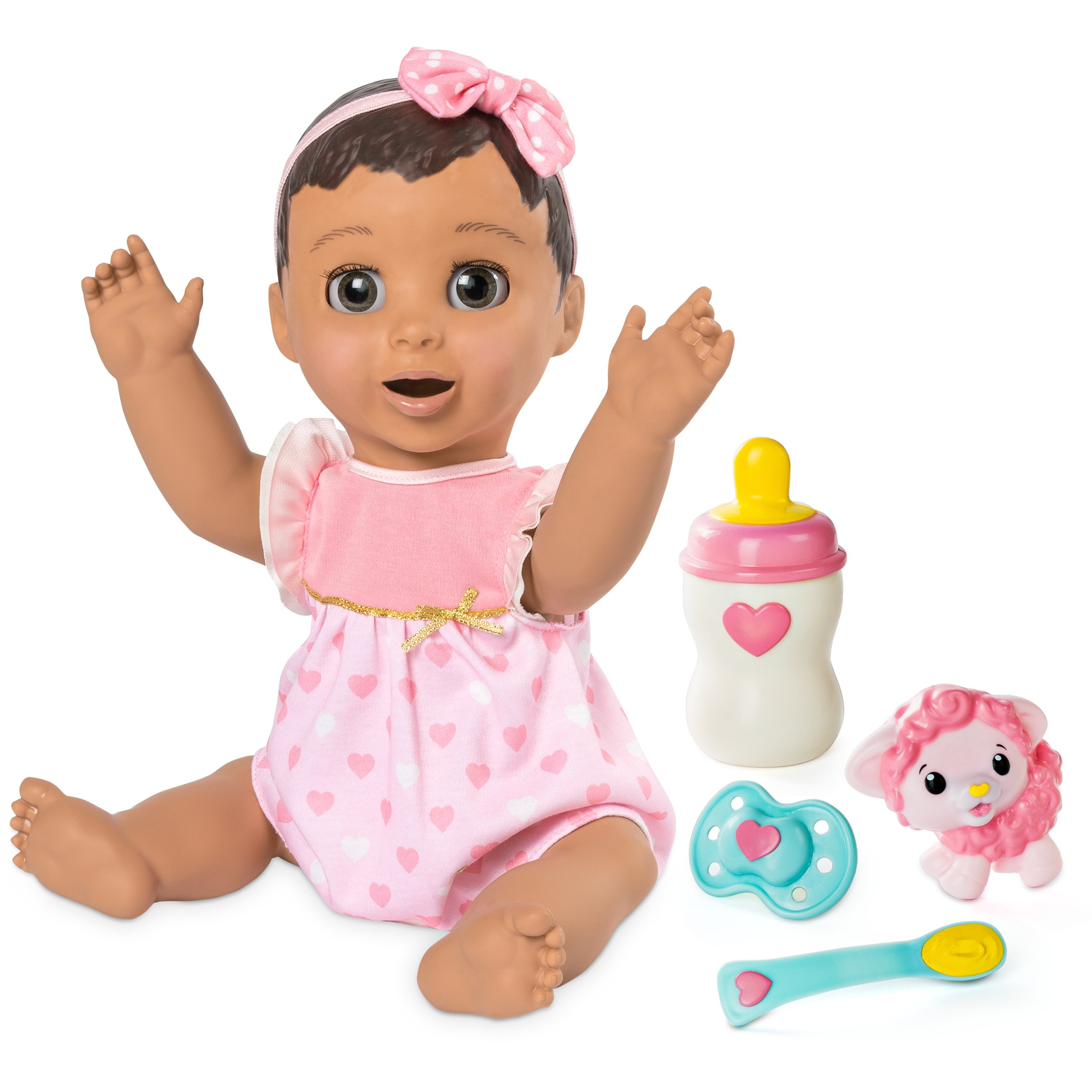 Luvabella Brunette Hair, Responsive Baby Doll with Real Expressions and Movement, for Ages 4 and Up
