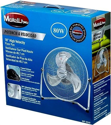 Maxell Power CE Ventilador Industrial DE Suelo SOBREMESA 80W 3 ...