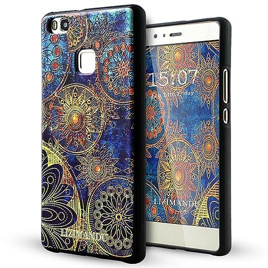 79 opinioni per Huawei P9 Lite Cover,Lizimandu Creative 3D Schema UltraSlim TPU Copertura Della