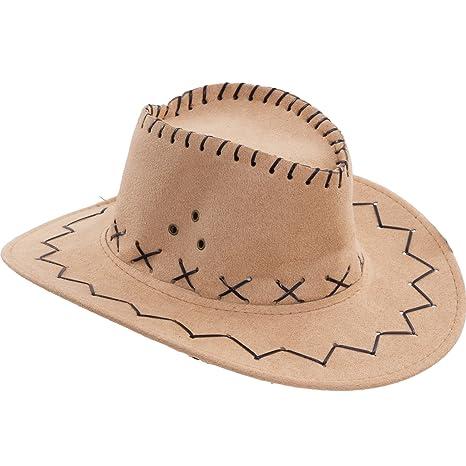 Cappello Bambino Bambina Bimbi Cowboy Scamosciato Carnevale Festa Party Hut9 Hats & Headgear
