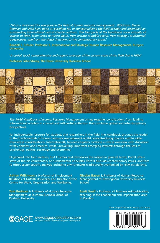The SAGE Handbook of Human Resource Management: Amazon.co.uk: Adrian ...