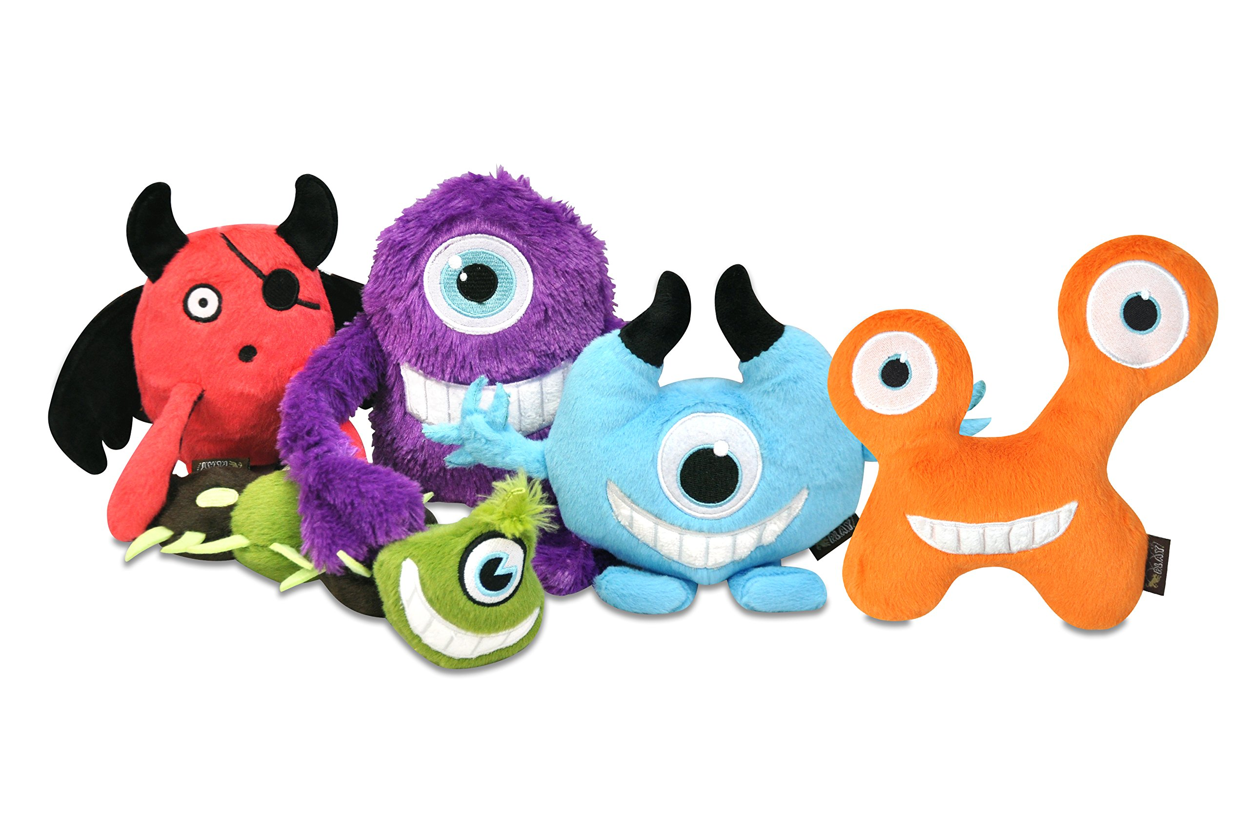 P.L.A.Y. (Pet Lifestyle And You) P.L.A.Y. - Dog Plush Toy with Squeaker Monster Set