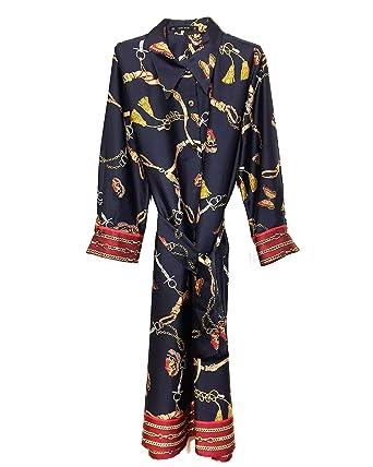 0e960ea9 Zara Women's Chain Print Shirt Dress 8127/147 Blue: Amazon.co.uk ...