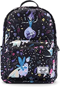 tomtoc College Backpack for Girls Kids, 14 Inch Laptop Backpack Computer Bag Daypack Travel Bag School Bookbags Outdoor Weekend Bag - Fits up to 15 Inch MacBook, Fairy