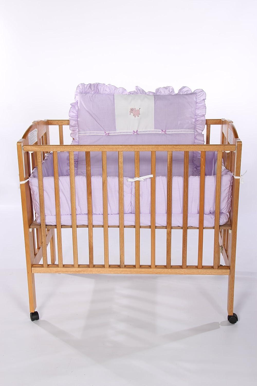 Baby Doll Bedding Gingham with Elephant Applique Mini Crib/ Port-a-Crib Bedding Set, Lavender by BabyDoll Bedding   B004WN8S4Q
