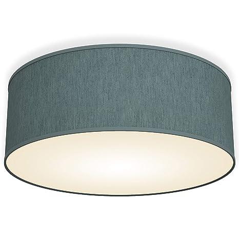 Lámpara de techo moderna con pantalla textil Ø 30cm, Lampara ...