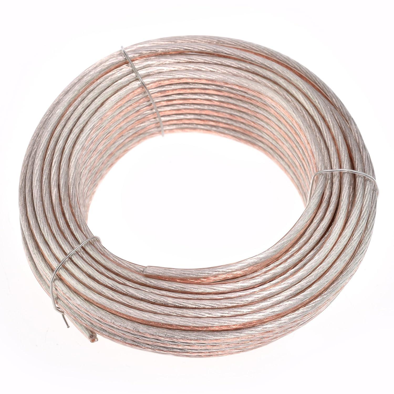 24 Gauge, 25 feet Conext Link PSC24CGS-25 Parallel Gold Silver Speaker Cables Full Gauge Oxygen Free Copper Zip Wire