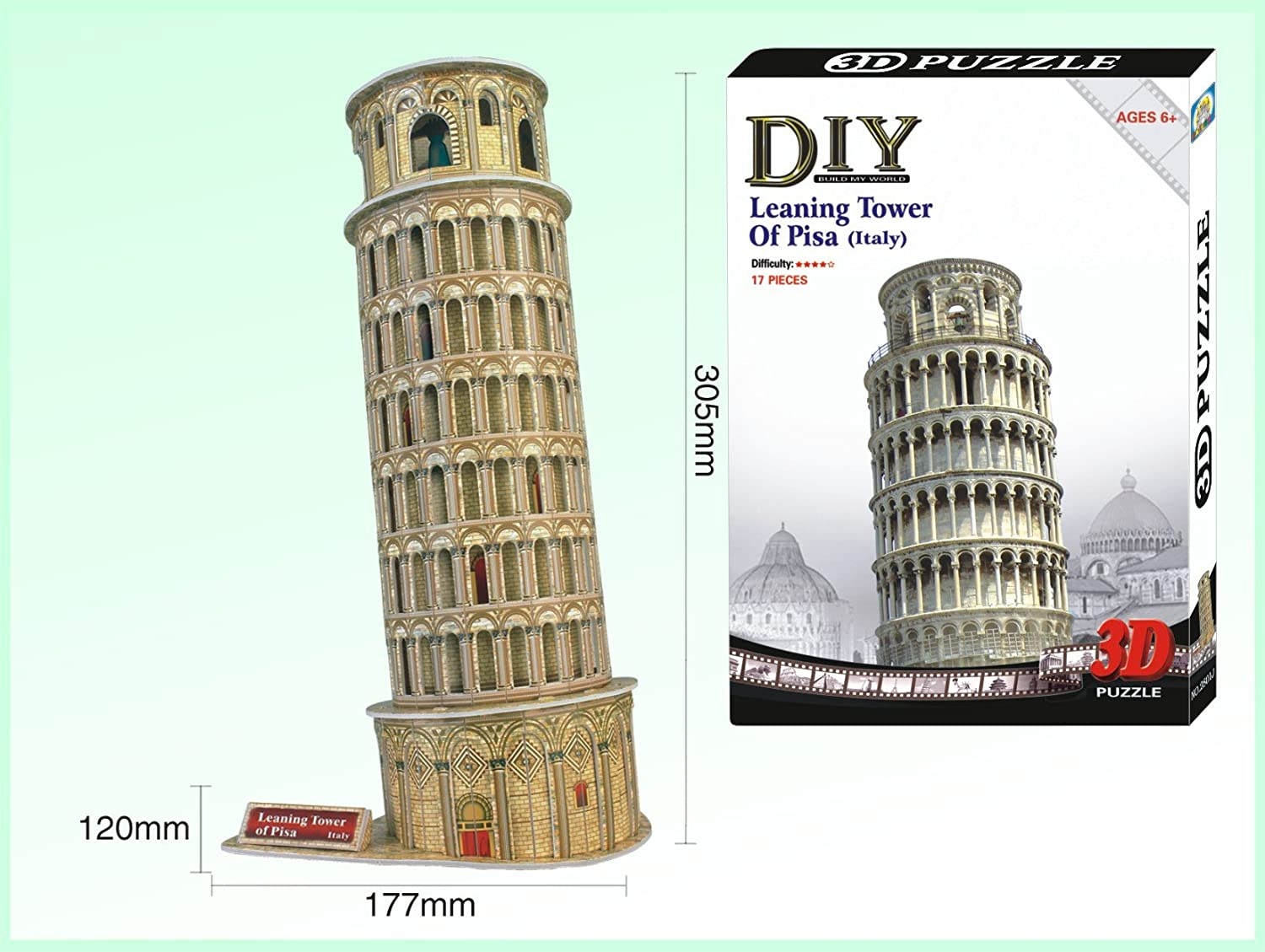 The Leaning Tower of Pisa World/'s Great Architechure Series 13PCS 3D Puzzle
