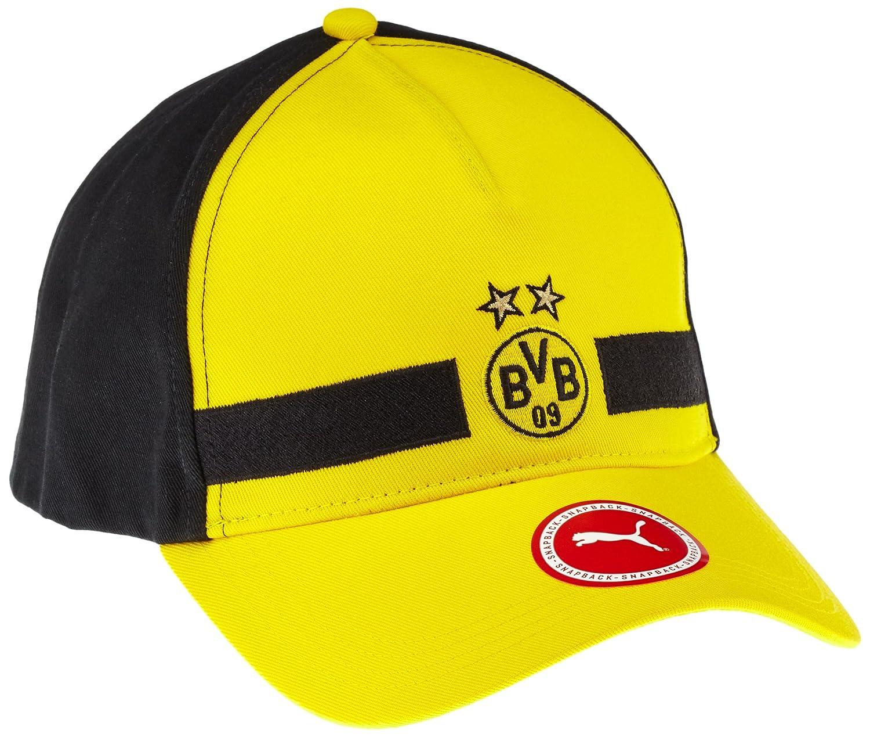 Puma BVB Leisure Gorro, unisex, Mütze BVB Leisure Cap, Cyber Yellow/Puma Black, Talla única