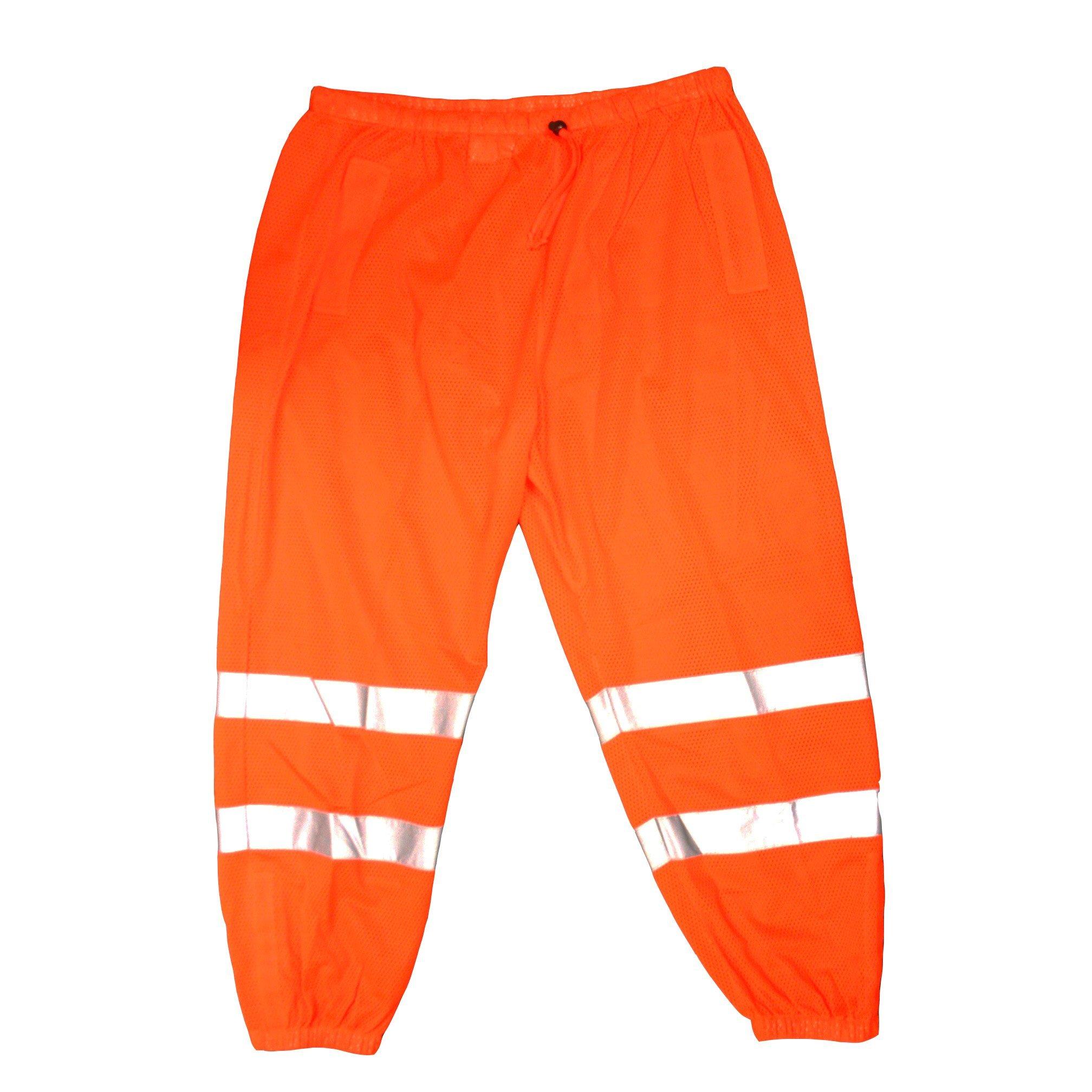 Cordova Safety Products P100L/XL Cor-Brite Mesh Pants, Large/X-Large, Hi-Vis Orange
