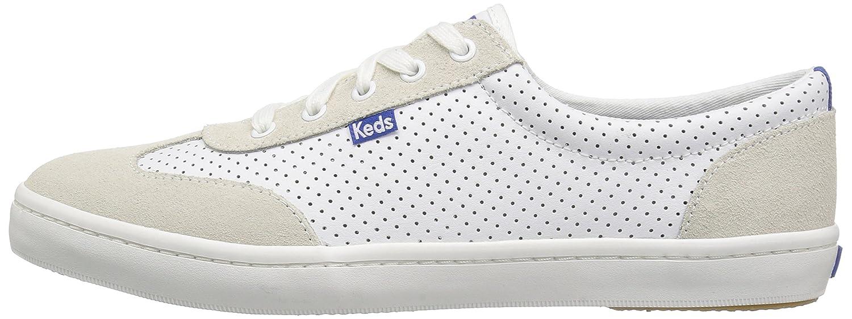 Keds Women's Tournament Retro Court Perf Leather Fashion Sneaker B01LYOFP2W 5.5 B(M) US|White/Blue