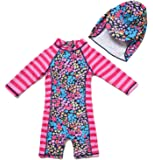 Bonverano Baby & Kids Girls UPF 50+ Sun Protection One Pieces Swimsuit (24-36 Months, Patterned)