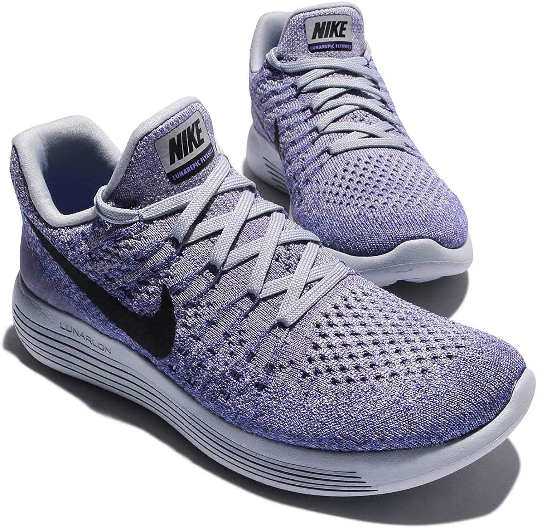 Nike Lunarepic Low Flyknit Zapatillas de correr para mujer, Morado ...