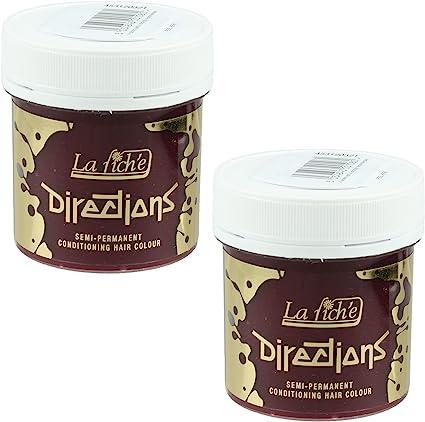 Directions Pillarbox - Juego de 2 tintes para el pelo (rojo)