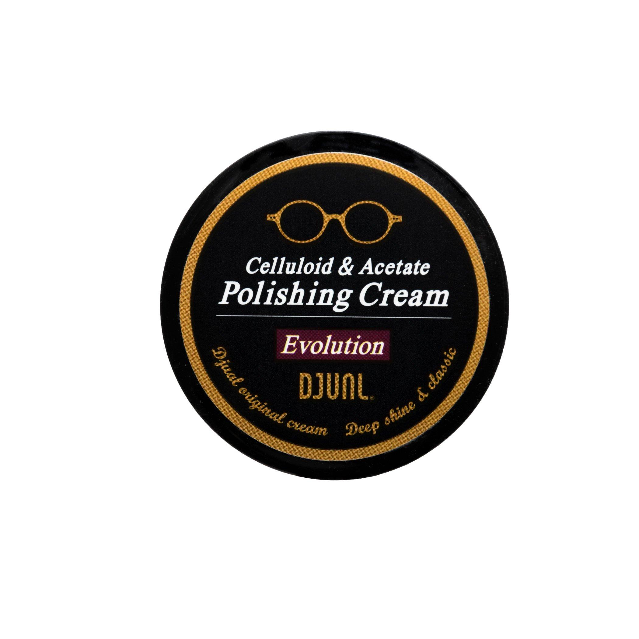 DJUAL Celluloid & Acetate Polishing Cream - Plastic Eyeglass Frames Cleaner