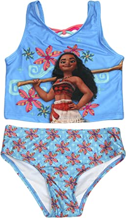 Machine Washable Moana Character Tankini Swimsuit Toddler Girl Suits