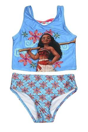 Amazon.com: Bebé niñas Disney Moana 2 piezas traje de baño ...