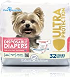 32ct Paw Inspired Ultra Protection Disposable Dog Diapers, Female,