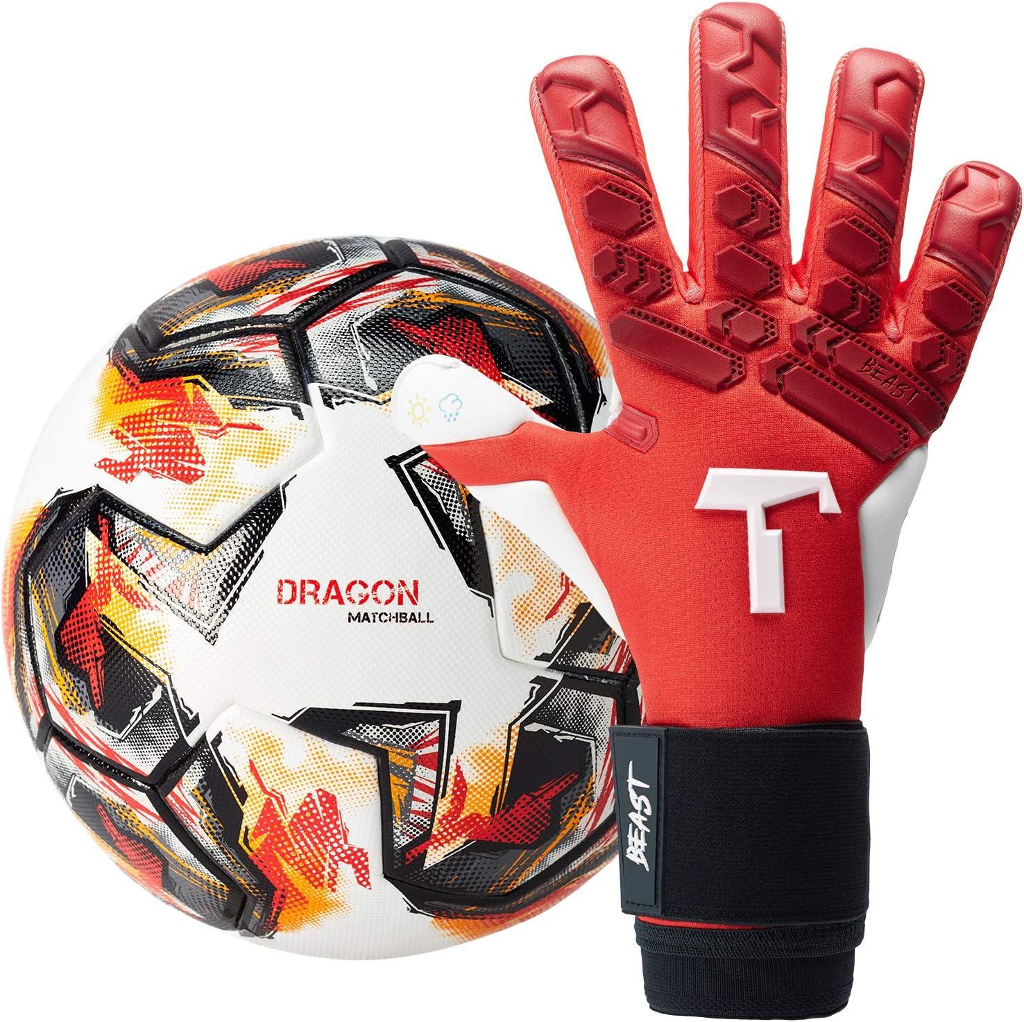 T1TAN Guantes de portero para adultos, guantes de fútbol para ...