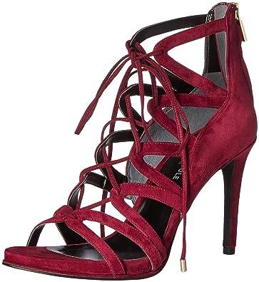 Womens Brielle Dress Sandal, Black Leather, 6 M US Kenneth Cole