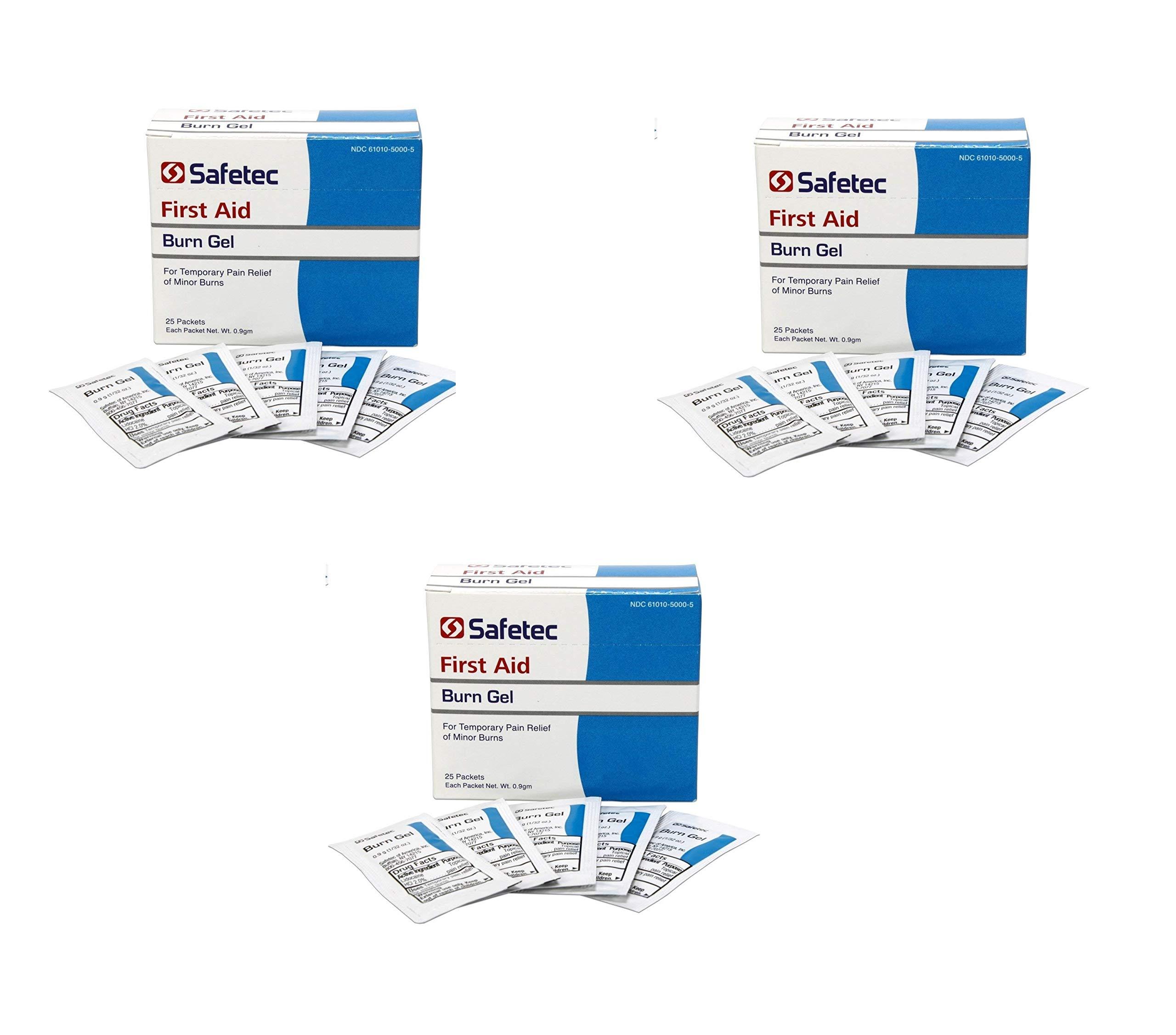 Safetec of America Inc 50006 Burn Gel .9g (3 Pack) by Safetec