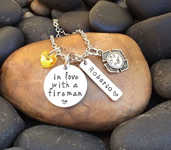 amazon ffclo dp firefighter jewelry girlfriend com necklace plated