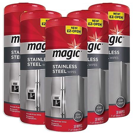 Toallitas mágicas de acero inoxidable – elimina huellas, residuos ...