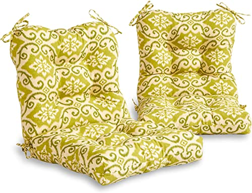 South Pine Porch AM6815S2-SHOREHAM Green Outdoor Seat/Back Chair Cushion