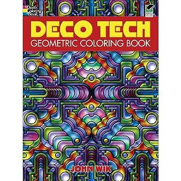 Deco Tech: Geometric Coloring Book